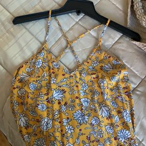 Old Navy Yellow Floral Maxi Summer Dress